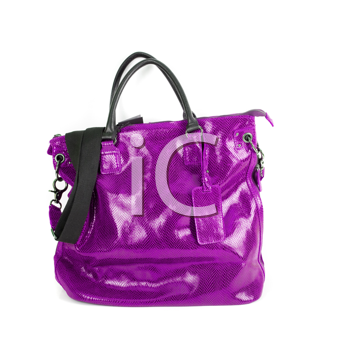 purple women bag isolated on white background