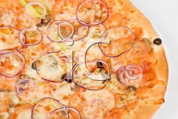 Royalty Free Photo of a Vegetable Pizza