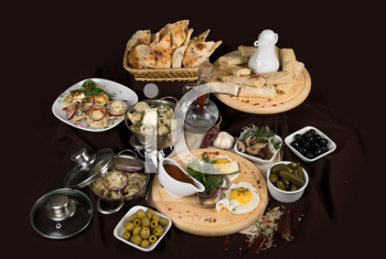 Royalty Free Photo of a Variety of Food Dishes
