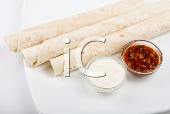 Royalty Free Photo of Lavash Tube With Sauce