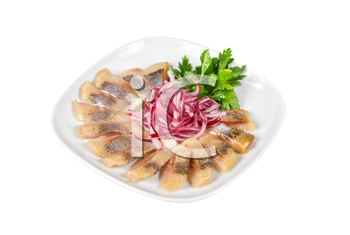Royalty Free Photo of Marinated Herring Fillets With Onions