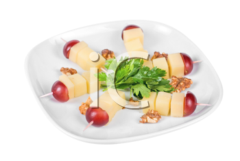 Royalty Free Photo of Cheese and Grapes