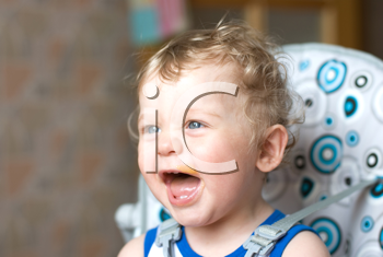 Royalty Free Photo of a Baby Boy With Food on His Face