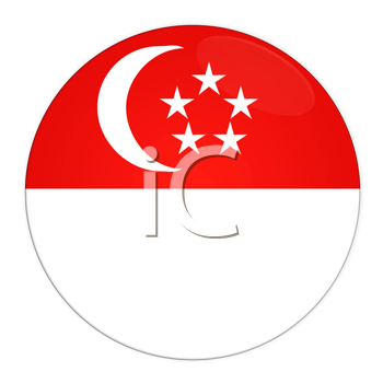 Abstract illustration: button with flag from Singapore country