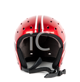 skier helmet isolated on a white background