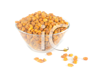 fried corn isolated on a white background