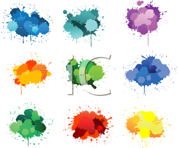 Royalty Free Clipart Image of a Paint Spatters