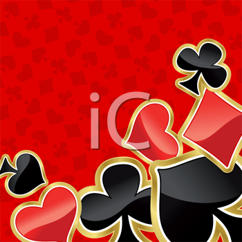 Royalty Free Clipart Image of a Card Background