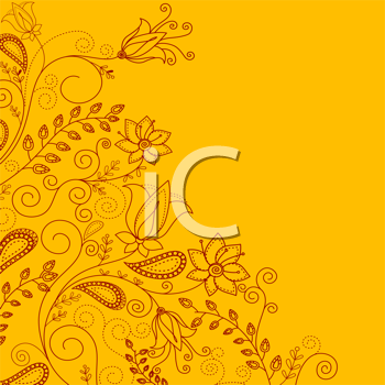 Royalty Free Clipart Image of a Floral Background