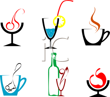 Royalty Free Clipart Image of Beverages