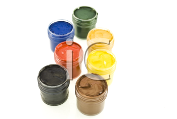 Royalty Free Photo of Watercolor Paint Sets