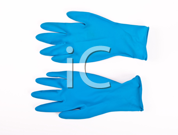 Royalty Free Photo of a Pair of Rubber Gloves