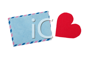 Envelope and red heart