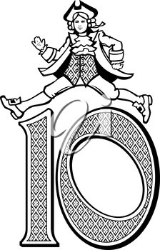 Royalty Free Clipart Image of One of the 10 Lords