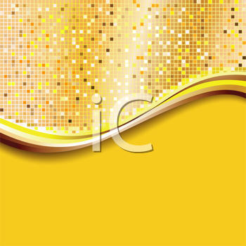 Royalty Free Clipart Image of a Yellow Background