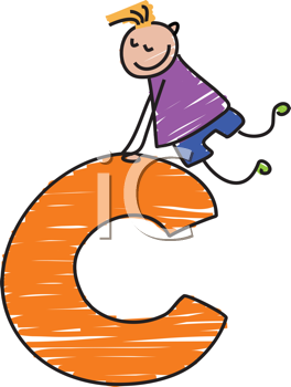 Royalty Free Clipart Image of a Boy With a C