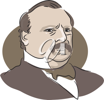 Royalty Free Clipart Image of Grover Cleveland