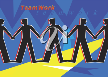 Royalty Free Clipart Image of a Teamwork Poster