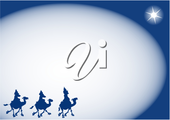 Royalty Free Clipart Image of a Three Wise-men Background