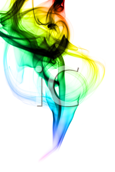 Colorful Abstraction. Fume shape over the white background