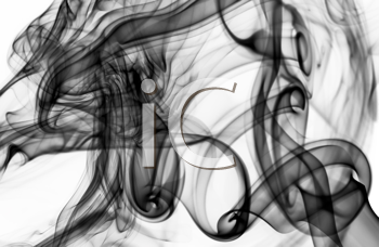 Magic Abstract fume pattern over the white background