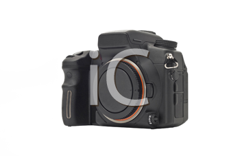 Professional Dslr camera body isolated over white background