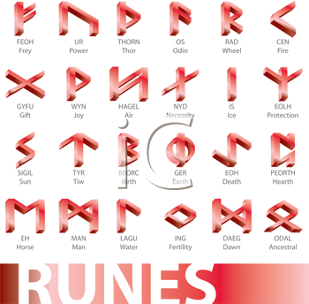 Royalty Free Clipart Image of Runes