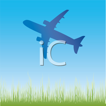 Royalty Free Clipart Image of an Airplane