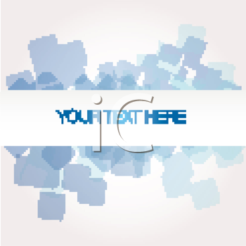 Royalty Free Clipart Image of a Background With Blue Shapes and Space for Text