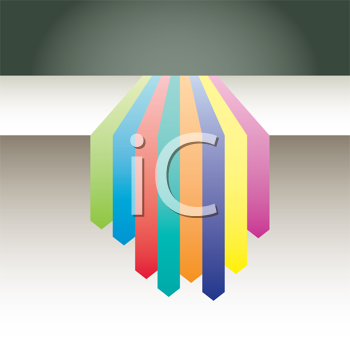 Royalty Free Clipart Image of Coloured Bands on a Background