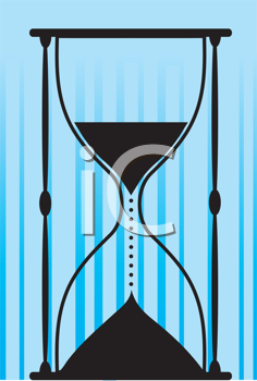 Royalty Free Clipart Image of a Silhouette of an Hourglass