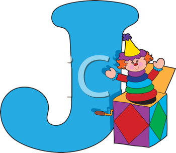 Royalty Free Clipart Image of a J For Jack-in-the-Box