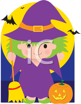 Royalty Free Clipart Image of a Witch With