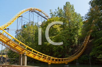 Royalty Free Photo of a Roller Coaster