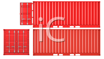 Royalty Free Clipart Image of Freight Containers