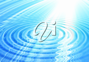 Royalty Free Clipart Image of a Blue Abstract Water Background