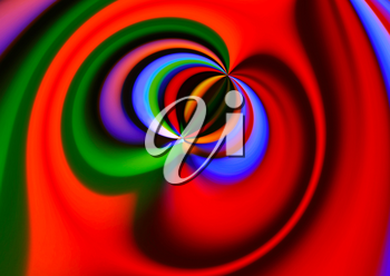 Bright colorful abstract swirl background