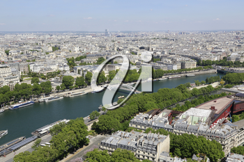 Beautiful aerial view from Eiffel Tower on Paris, France
