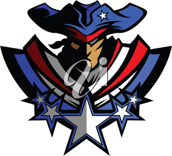 Royalty Free Clipart Image of a Patriot