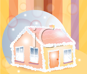 Royalty Free Clipart Image of a Candy House