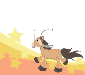Royalty Free Clipart Image of a Horse Background