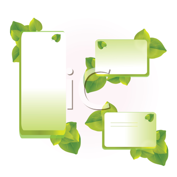 Royalty Free Clipart Image of Leaf Designs