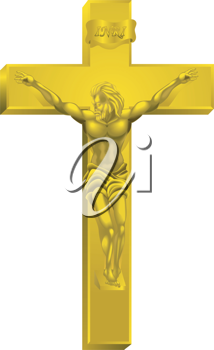 Royalty Free Clipart Image of a Crucifix