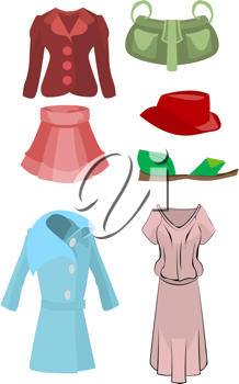 Royalty Free Clipart Image of Fashion Accessories