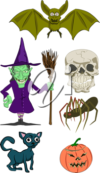 Royalty Free Clipart Image of Halloween Illustrations