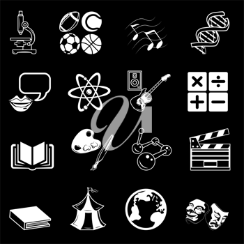 Royalty Free Clipart Image of Education Symbols