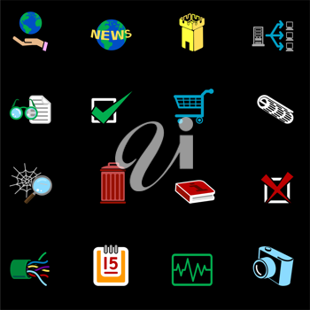 Royalty Free Clipart Image of a Web Icons
