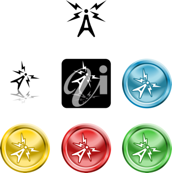 Royalty Free Clipart Image of Antenna Icons