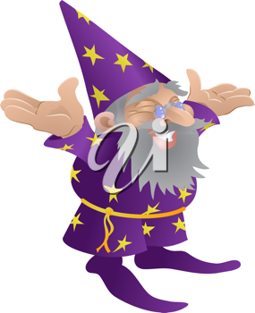 Royalty Free Clipart Image of a Wizard