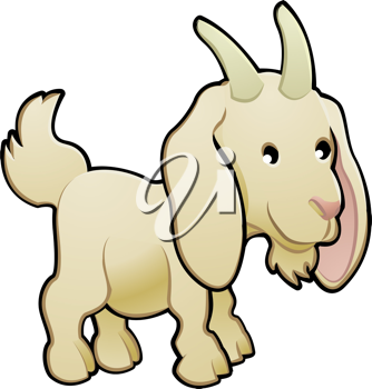 Royalty Free Clipart Image of a Goat